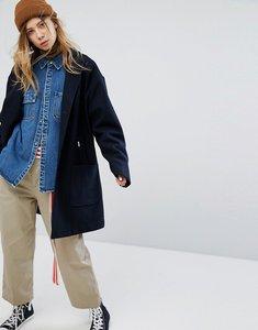 Read more about Carhartt wip smart coat in wool mix - dark navy