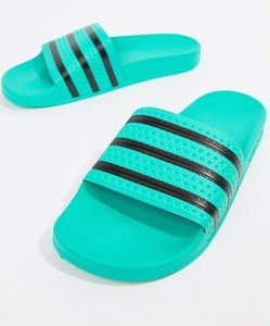 Read more about Adidas originals adilette sliders in green cq3100 - green