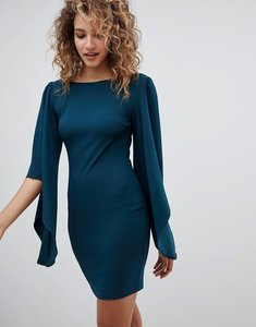 Read more about Ax paris sleeve detail shift dress - teal
