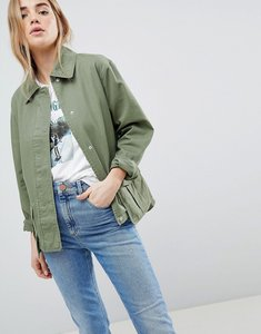 Read more about Asos design washed cotton jacket - khaki