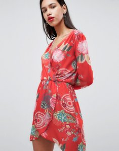 Read more about Love printed wrap dress - festival print
