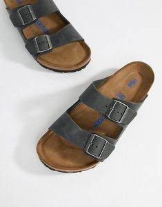 Read more about Birkenstock arizona oiled leather sandals - black