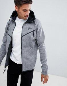 84a042766463 nike tech fleece longline jacket with 3m detail in black 805142 010 ...