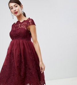 Read more about Chi chi london maternity lace detail midi dress