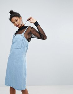 Read more about Chorus eyelet straps denim pinafore dress - blue indigo