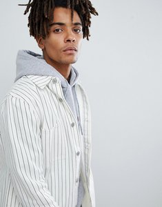 Read more about Mennace denim jacket in white with pinstripe - white