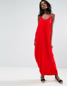 Read more about Asos drape hareem maxi dress - red
