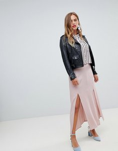 Read more about New look split front maxi skirt - pink