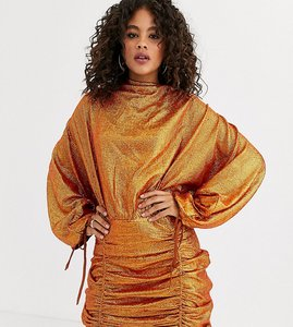 Read more about Asos design tall oversized mini dress in all over sequin