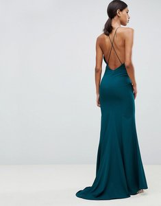 Read more about Jarlo fishtail maxi dress with strappy back in green