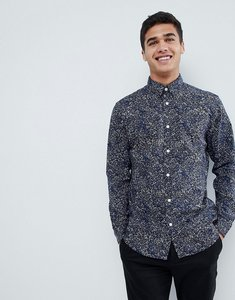 Read more about Selected homme shirt with all over print in slim fit - night sky