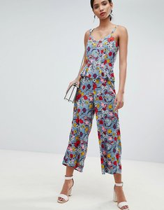Read more about Y a s bold floral wide leg jumpsuit with ruffles - multi