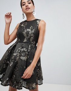 Read more about Forever unique baroque patterned dress - black gold