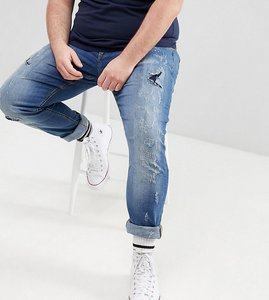 Read more about Blend plus lunar light wash distressed super skinny jeans - lightwash 11