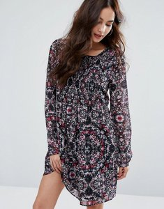 Read more about Bcbgeneration smocked bodice dress - multi