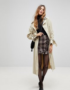 Read more about Parisian check mini skirt with ruffle detail - grey