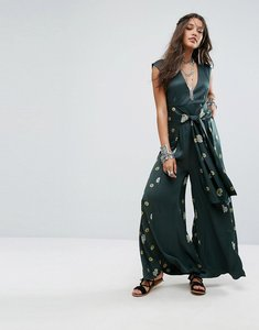 Read more about Free people floral printed jumpsuit - green combo