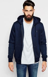 Read more about Farah zip up hoodie with f logo - ny navy