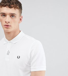 Read more about Fred perry slim fit plain polo in white - 100