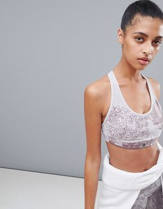 Read more about Reebok marble printed padded bra - multi