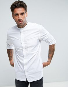 Read more about Waven grandad collar shirt - white