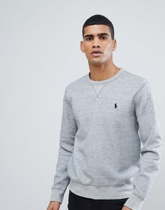Read more about Polo ralph lauren crew neck sweatshirt with polo player logo in grey marl - grey heather