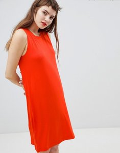 Read more about Monki jersey sleeveless mini t-shirt dress - red
