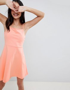 Read more about Asos design mini square neck sundress - peach
