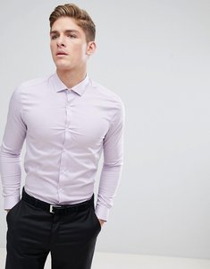 Read more about Burton menswear skinny fit smart shirt in pink - pink