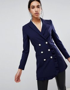 Read more about Asos blazer with frill detail - navy