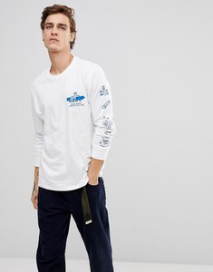 Read more about Element wheelin logo long sleeve t-shirt in white - white