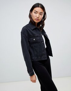 Read more about Asos design denim jacket in washed black - black