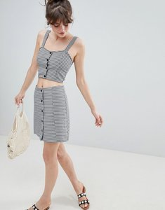 Read more about Monki check skirt co-ord - multi 1