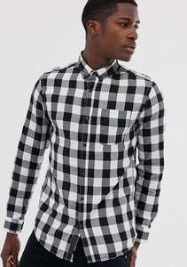 Read more about Produkt gingham check shirt in slim fit - white
