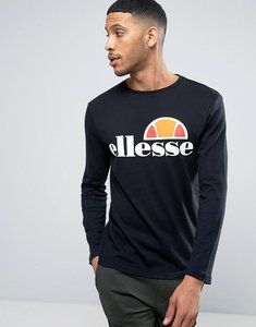 Read more about Ellesse long sleeve t-shirt with classic logo in black - black