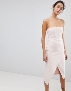 Read more about Bec bridge spaghetti strap asymmetric dress - shell pink