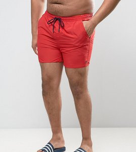 Read more about French connection plus swim shorts with contrast draw string and inner - red