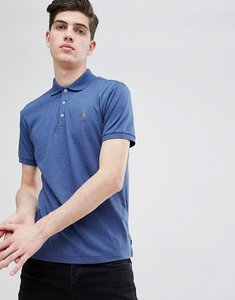 Read more about Polo ralph lauren slim fit pima jersey polo multi player in navy marl - navy heather