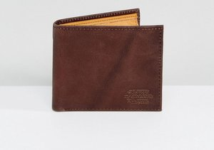 Read more about Element dogma embossed logo leather wallet in brown with coin pocket - brown