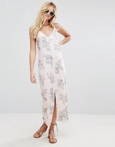 Read more about Asos maxi dress with v back in floral print - floral print