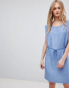 Read more about Blend she mally denim belted print dress - blue
