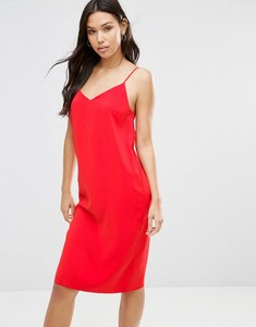 Read more about Asos midi slip dress - red
