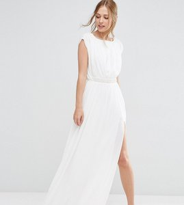 Read more about Asos tall embellished waist maxi dress - ivory