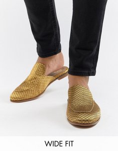 Read more about Kg by kurt geiger wide fit brocade slip on loafers - black