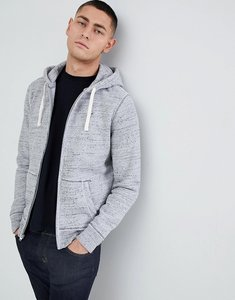 Read more about Hollister seagull icon logo full zip hoodie in grey marl - grey marl