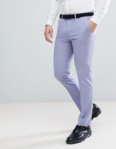 Read more about Asos wedding skinny suit trousers in pale blue 100 wool - pale blue