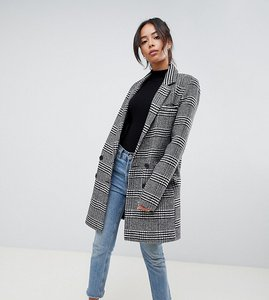 Read more about Asos design tall slim coat in check - multi