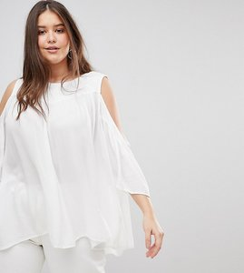 Read more about Koko embroidered cold shoulder blouse - ivory