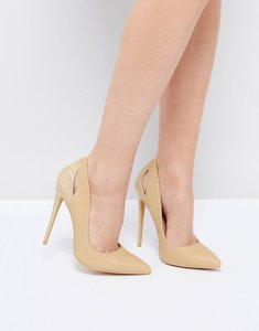 Read more about Lost ink court shoes - nude