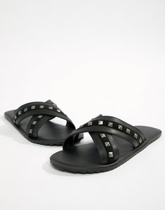 Read more about Asos design sandals in black with studs - black